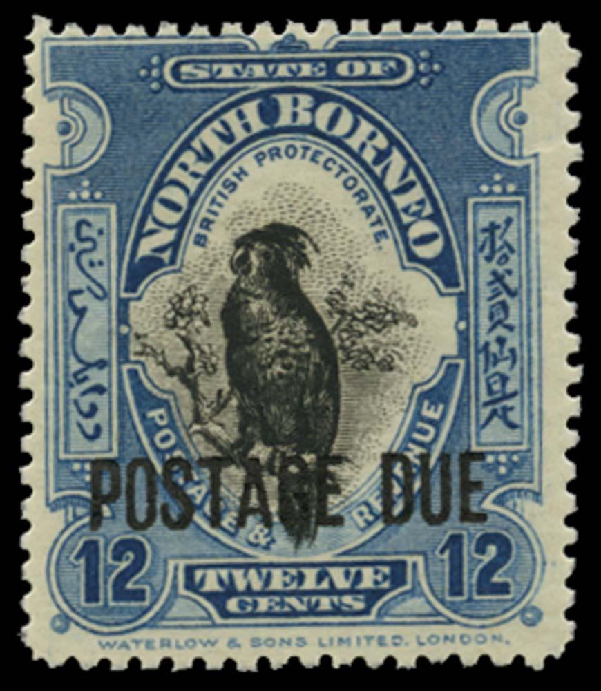 NORTH BORNEO 1918-30  SGD64 Postage Due