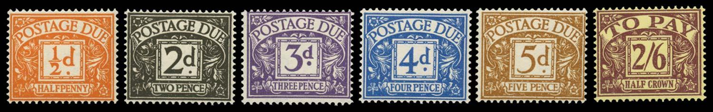 GB 1954-55  SGD40/5 Postage Due
