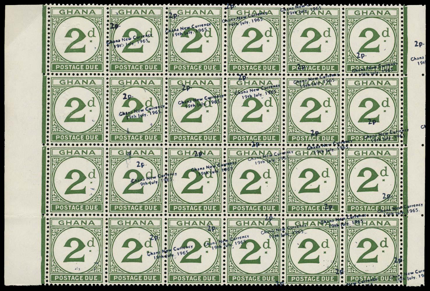 GHANA 1965  SGD20/d Postage Due