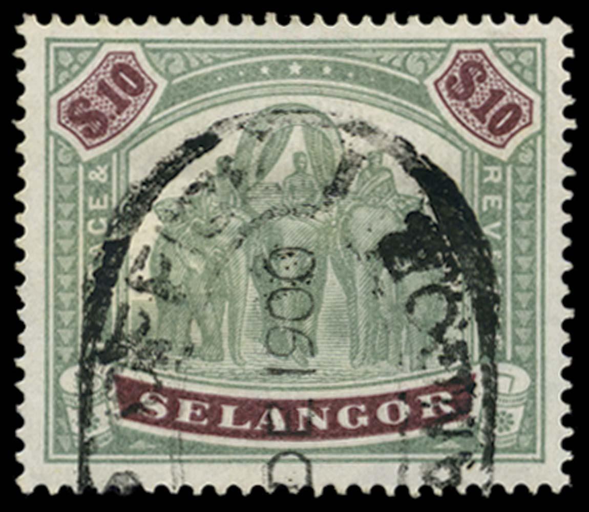 MALAYA - SELANGOR 1895-9  SG65 Used