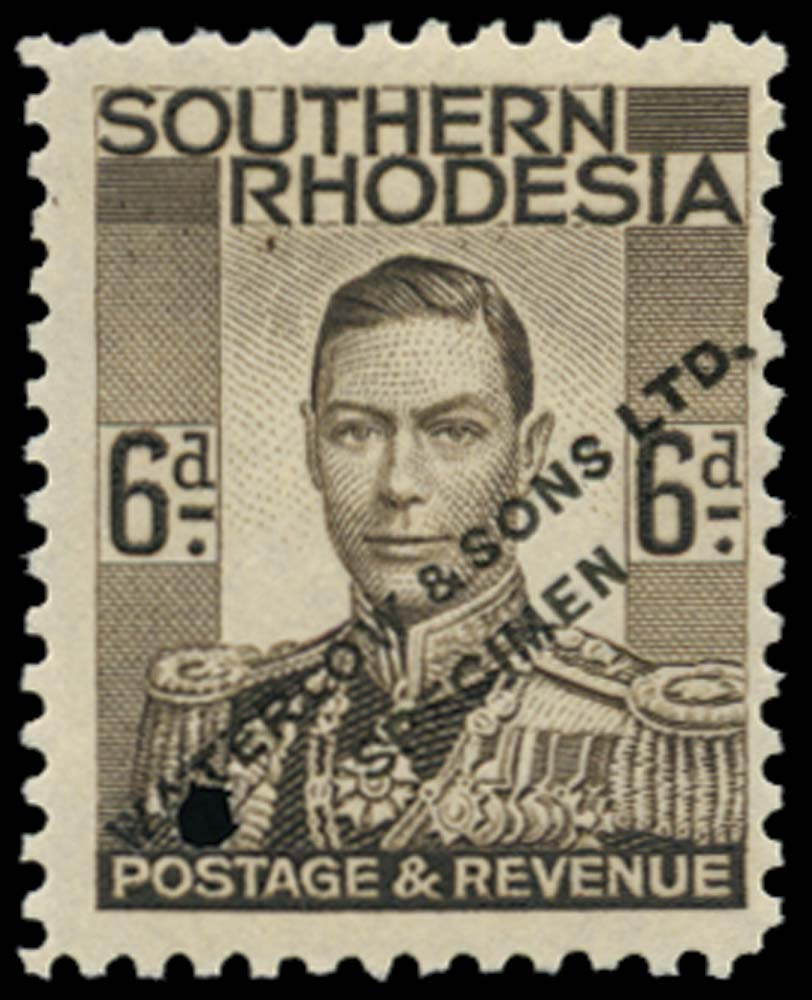 SOUTHERN RHODESIA 1937  SG44 Proof