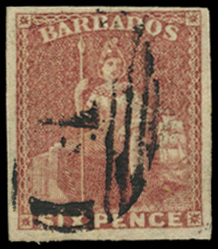 BARBADOS 1858  SG11 Used