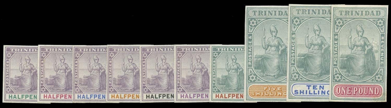 TRINIDAD 1896  SG114/24 Proof