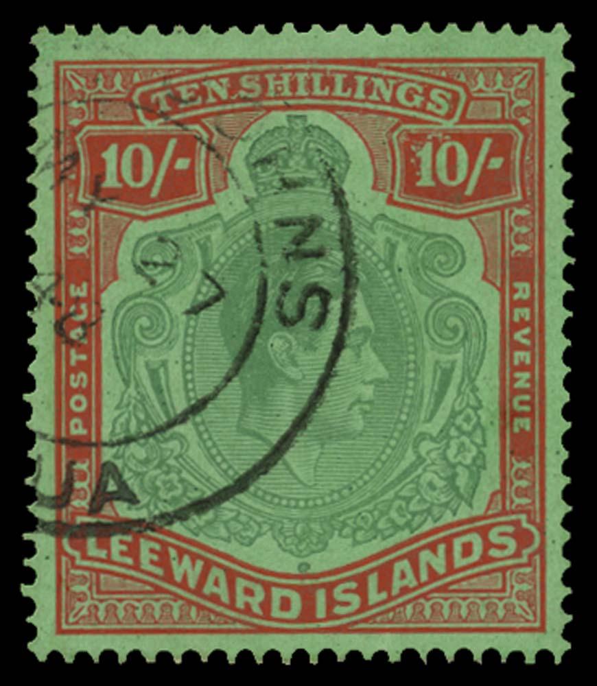 LEEWARD ISLANDS 1938  SG113b var Used