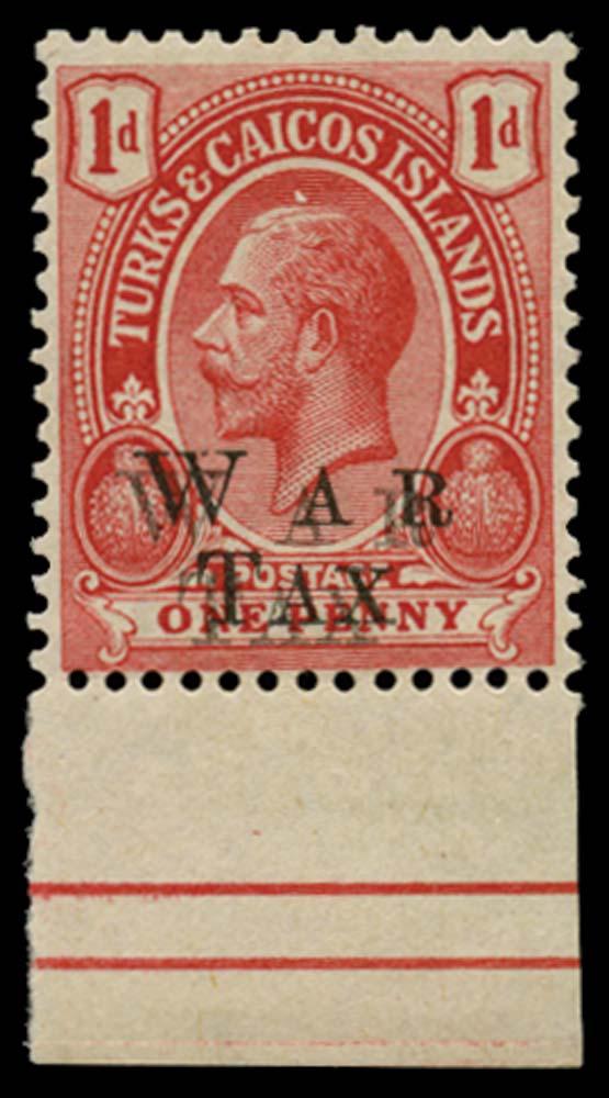 TURKS & CAICOS IS 1919  SG150a Mint