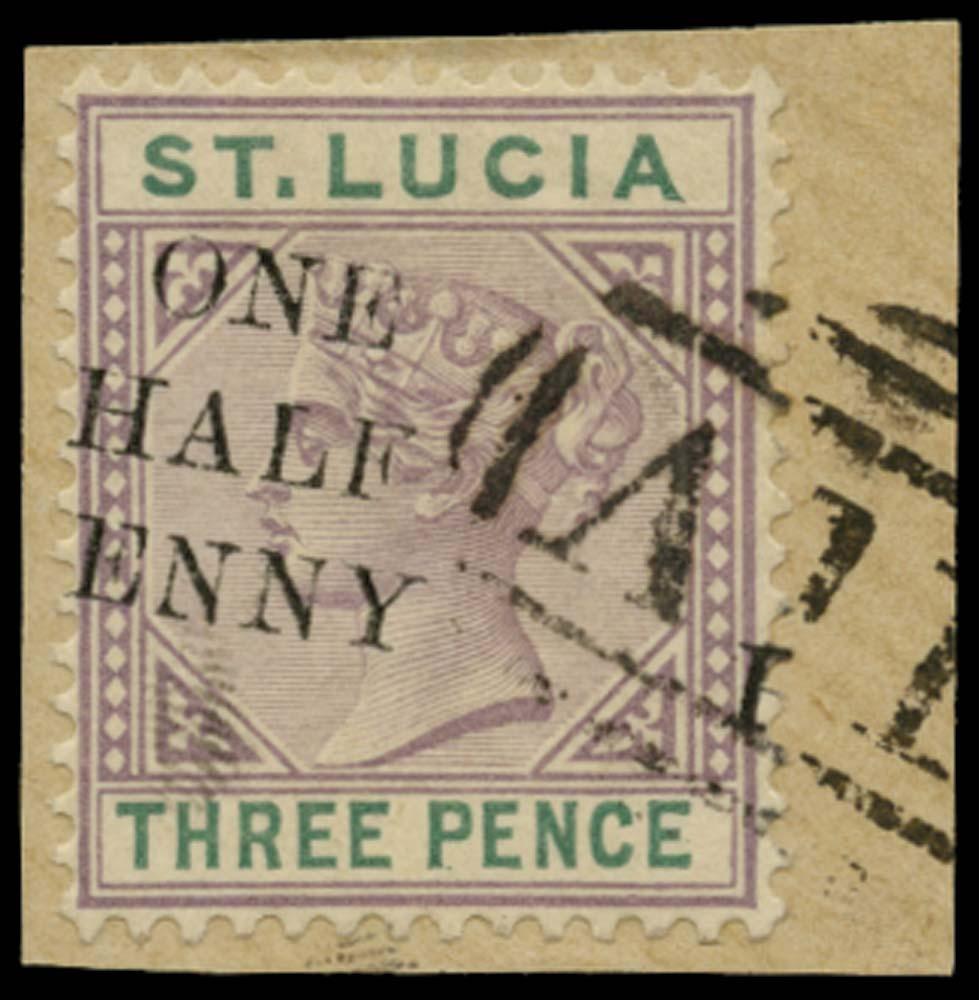 ST LUCIA 1891  SG56 var Used