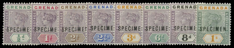 GRENADA 1895-9  SG48s/55s Specimen