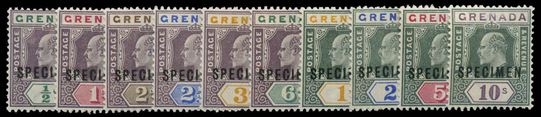 GRENADA 1902  SG57s/66s Specimen