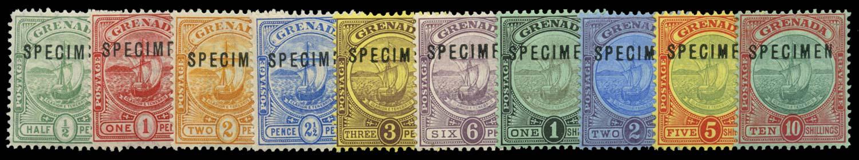 GRENADA 1906-11  SG77s/88s Specimen