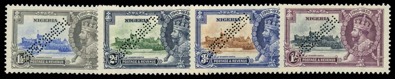 NIGERIA 1935  SG30s/3s Specimen