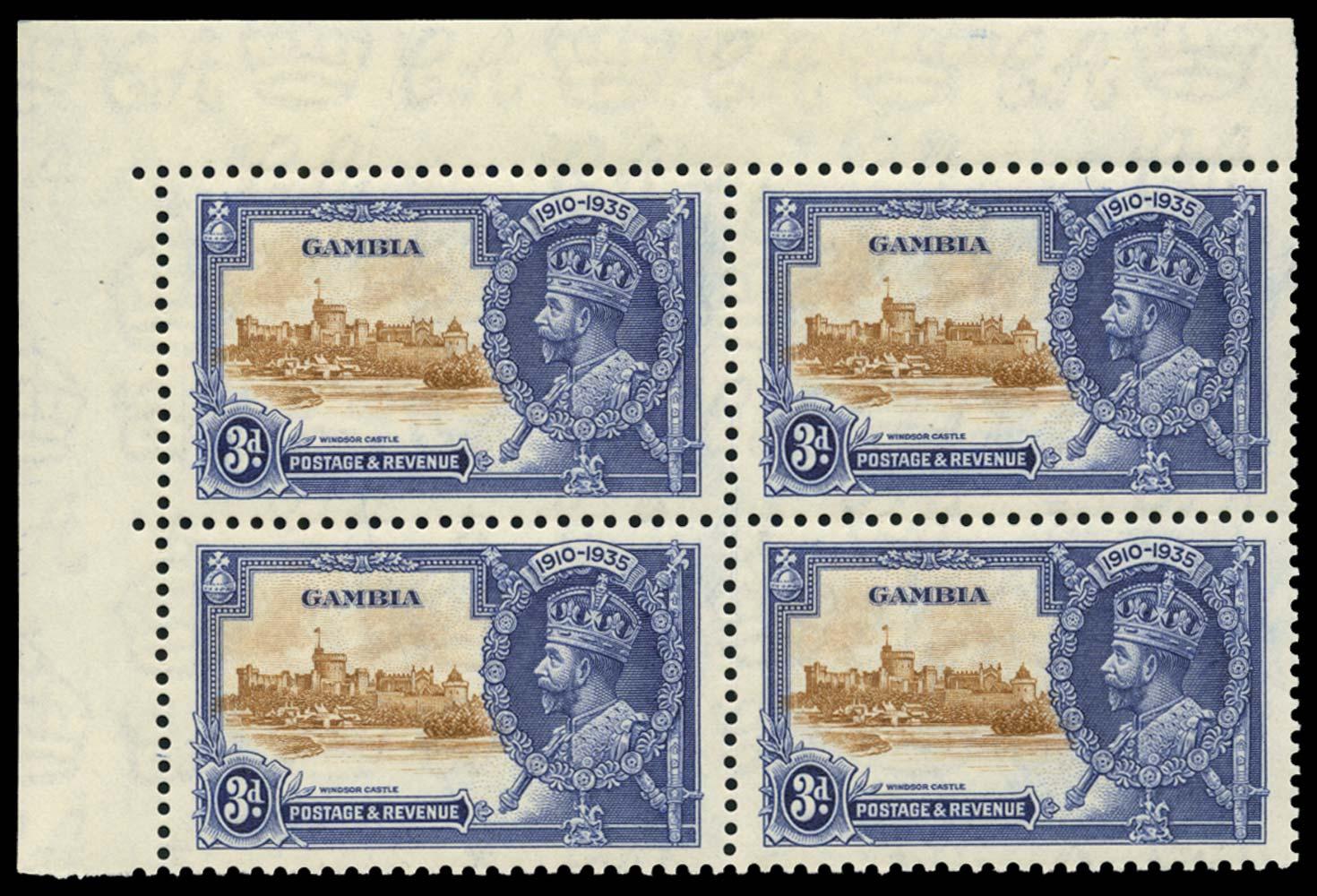 GAMBIA 1935  SG144/b Mint
