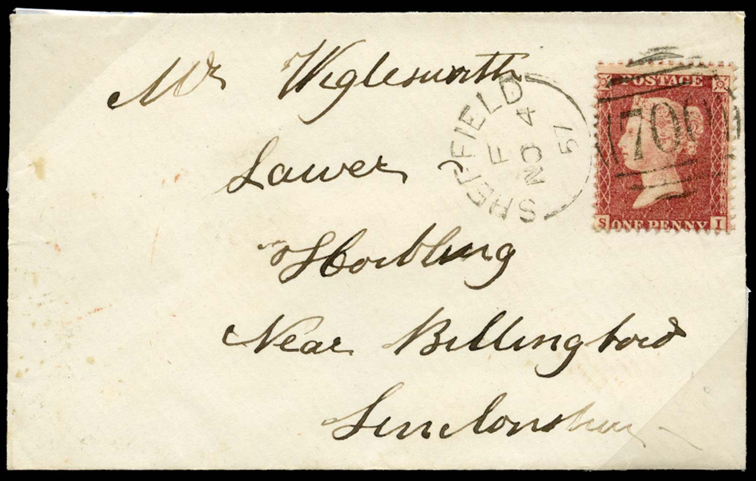 GB 1857  SG40 Pl.47 Cover