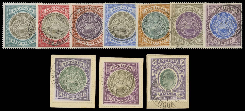 ANTIGUA 1903  SG31/40 Used