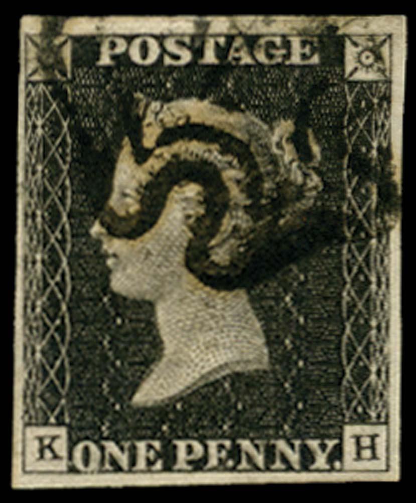 GB 1840  SG3 Pl.6 Penny Black