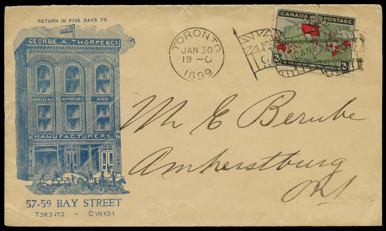CANADA 1899  SG167 Cover