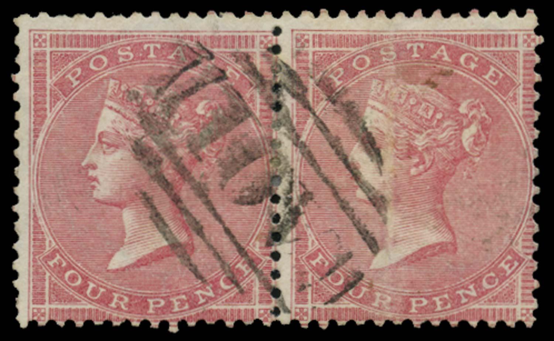 JAMAICA 1858-60  SGZ4 Cancel