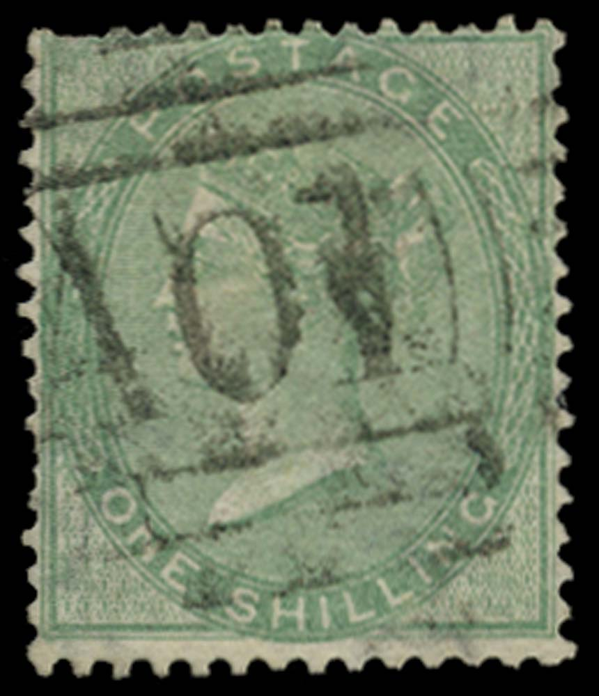 JAMAICA 1858-60  SGZ11 Cancel
