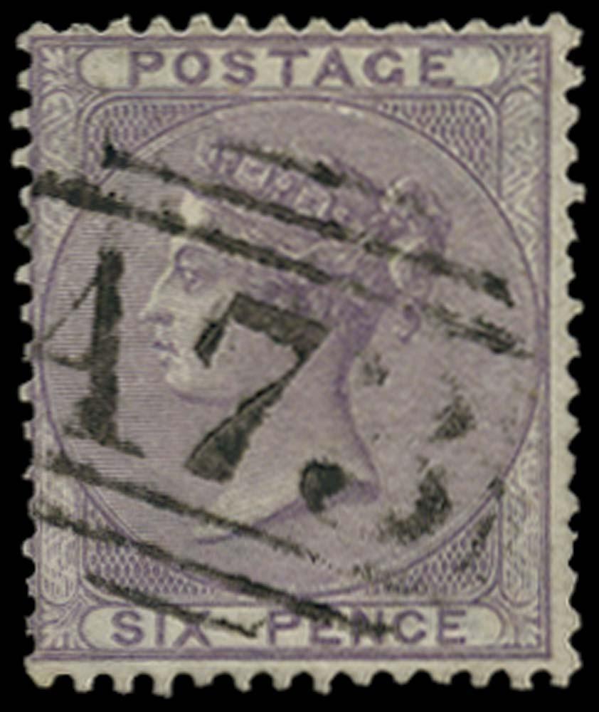 JAMAICA 1858-60  SGZ161 Cancel