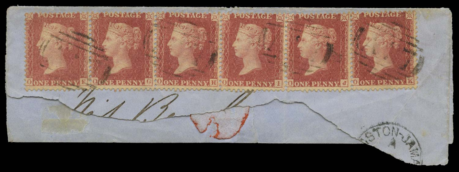 JAMAICA 1858-60  SGZ47 Cancel