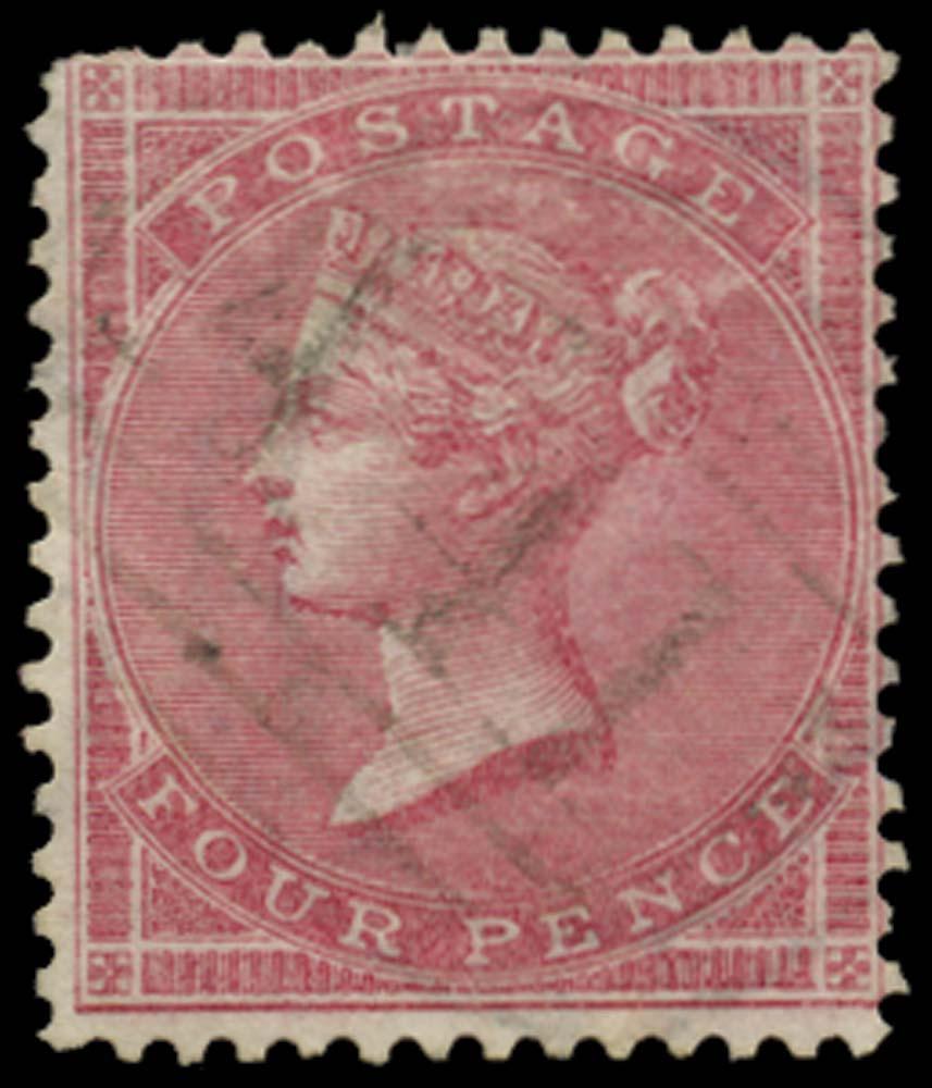 JAMAICA 1858-60  SGZ62 Cancel