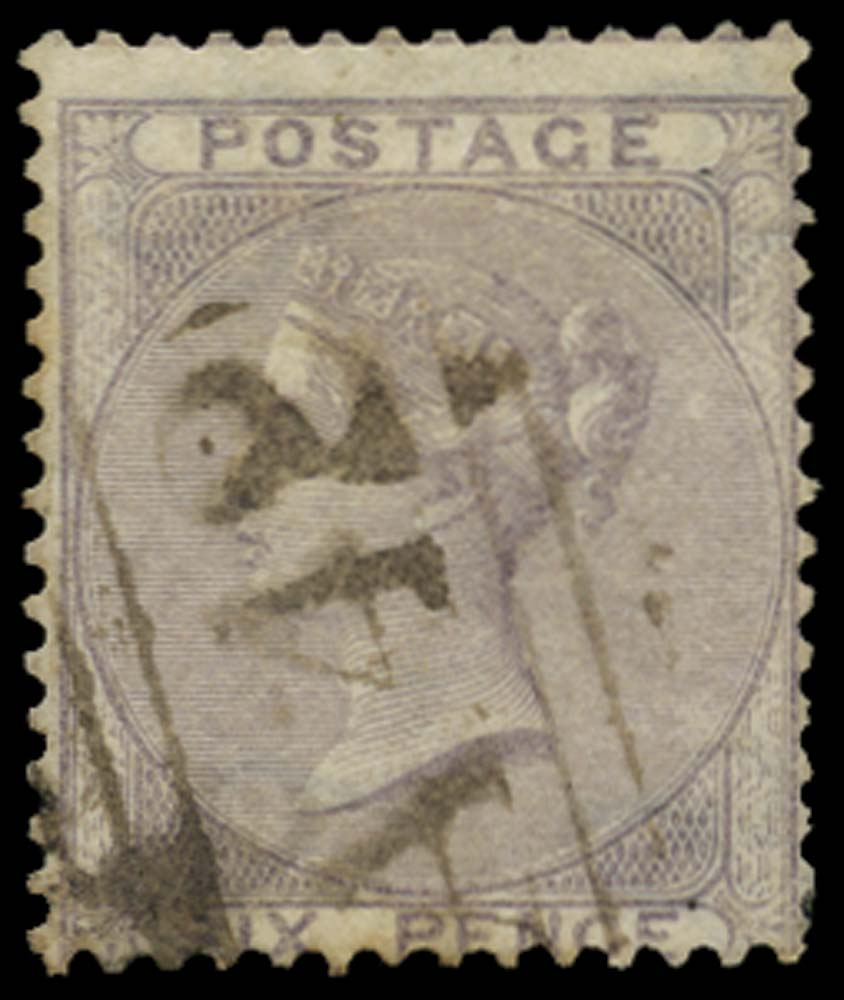 JAMAICA 1858-60  SGZ67 Cancel