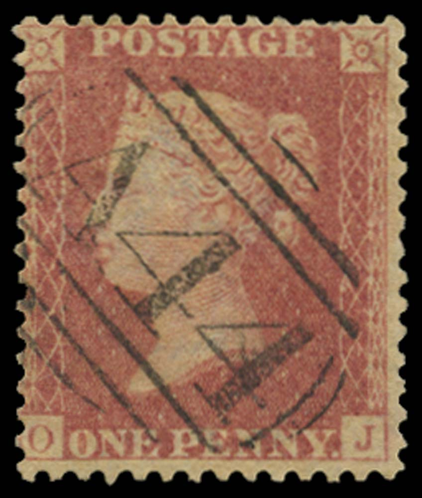 JAMAICA 1858-60  SGZ72 Cancel