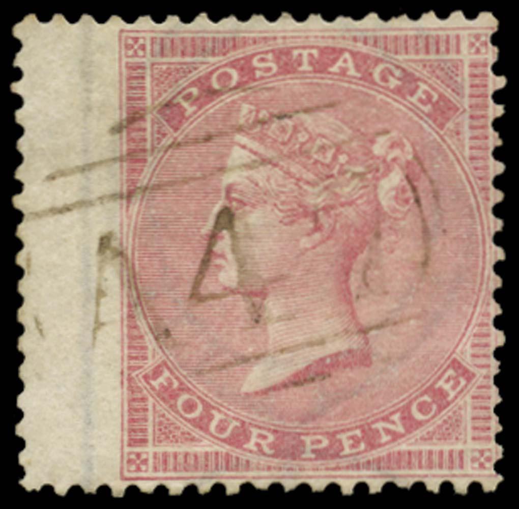 JAMAICA 1858-60  SGZ83 Cancel