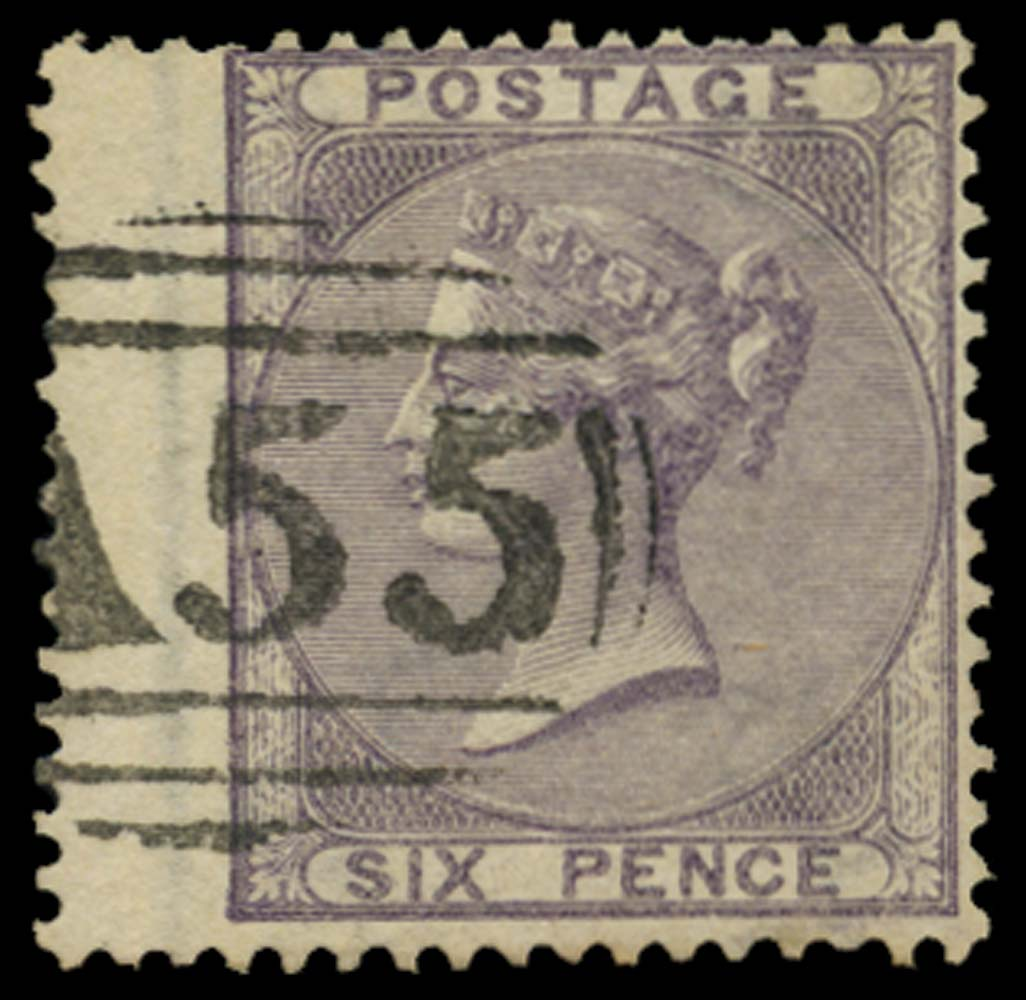 JAMAICA 1858-60  SGZ105 Cancel