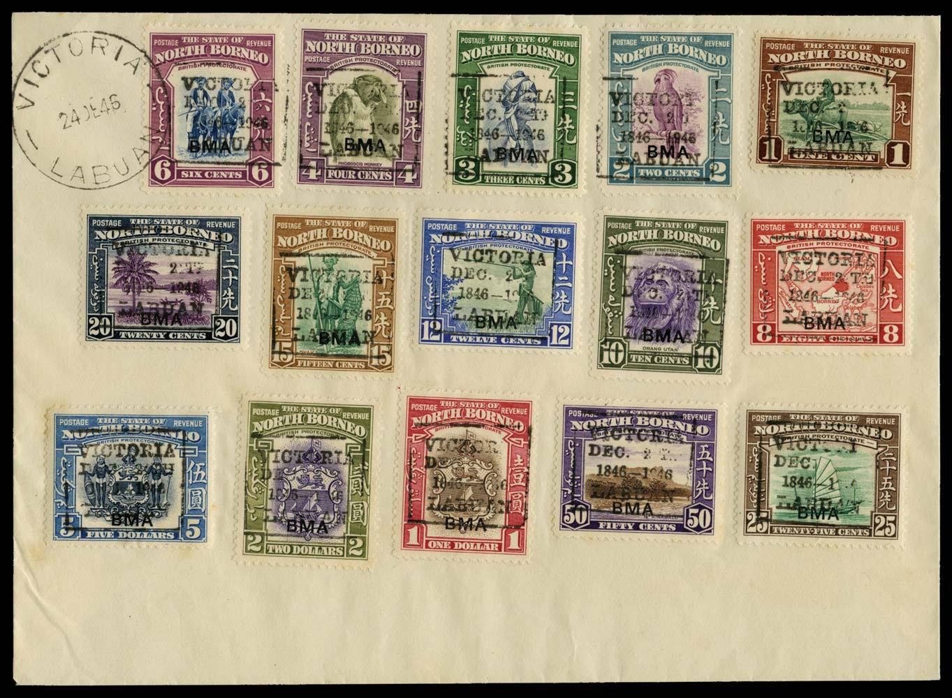 NORTH BORNEO 1946  SG320/34 Cover