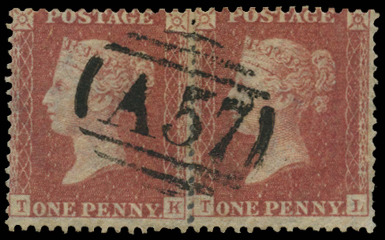 JAMAICA 1858-60  SGZ109 Cancel
