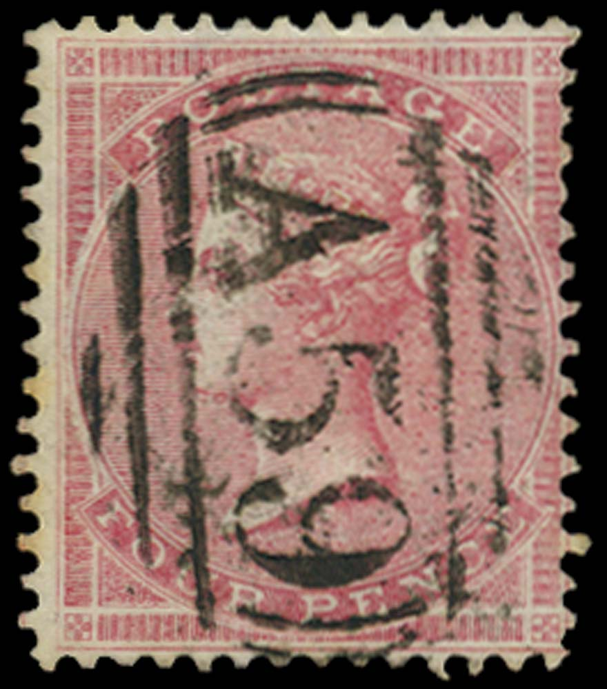 JAMAICA 1858-60  SGZ117 Cancel