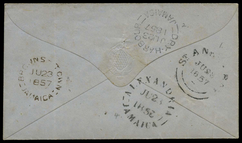 JAMAICA 1857  SG. Cover