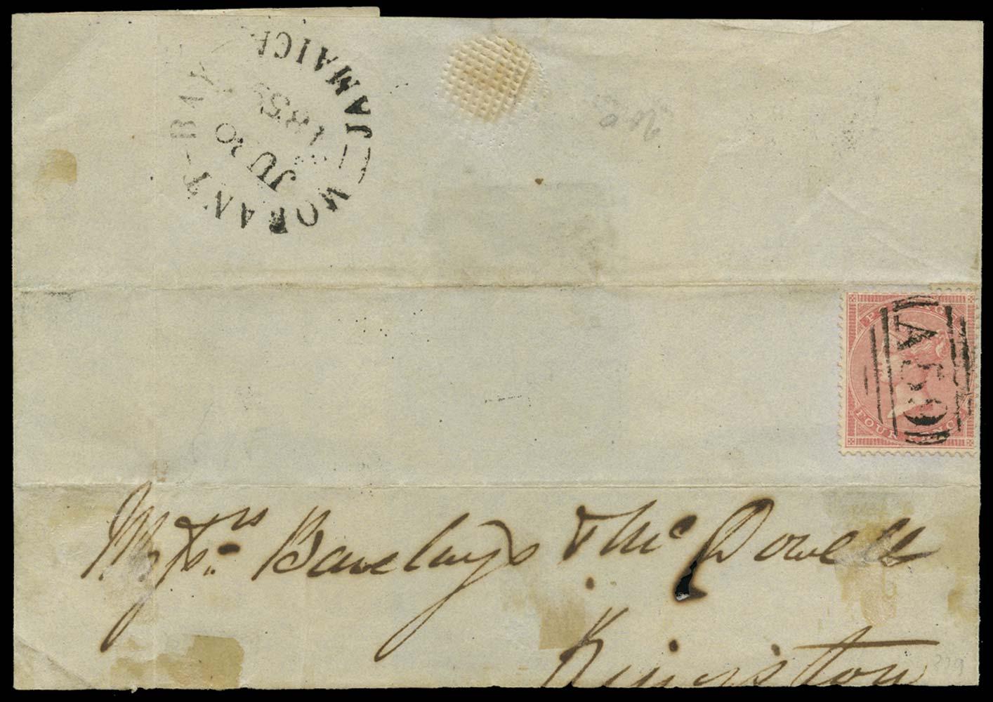 JAMAICA 1859  SGZ117 Cover