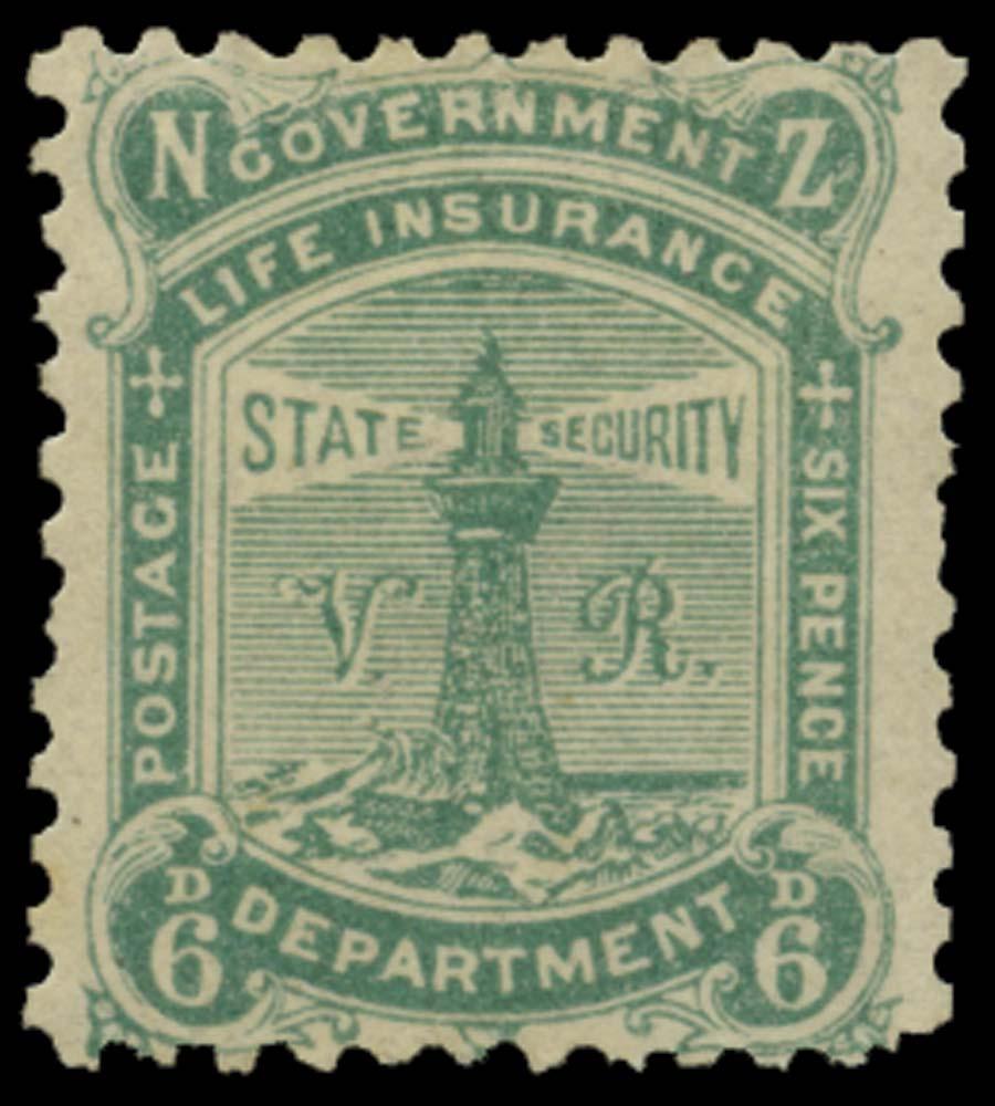 NEW ZEALAND 1891-1  SGL5 Mint