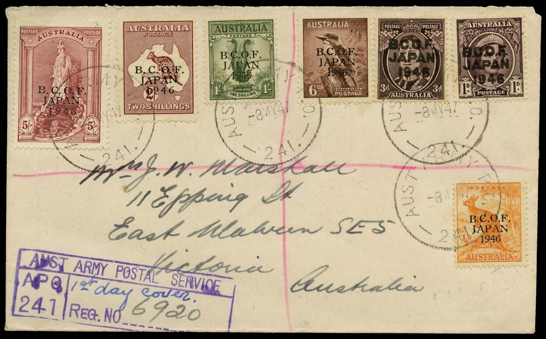 AUSTRALIA B.C.O.F. 1947  SGJ1a/7 Cover