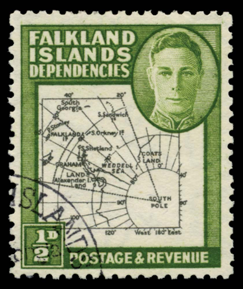 FALKLAND ISLAND DEPS 1946  SGG1b Used