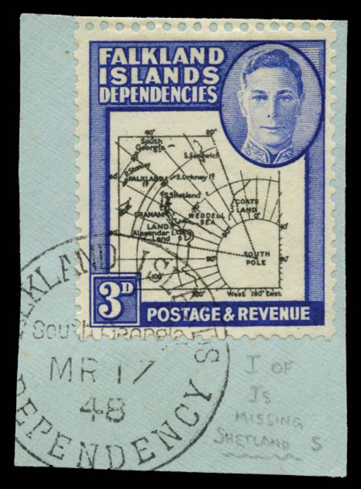 FALKLAND ISLAND DEPS 1946  SGG4b Used