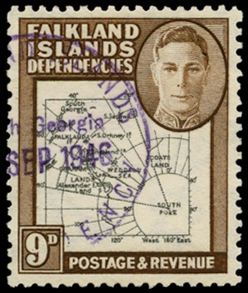 FALKLAND ISLAND DEPS 1946  SGG7c Used