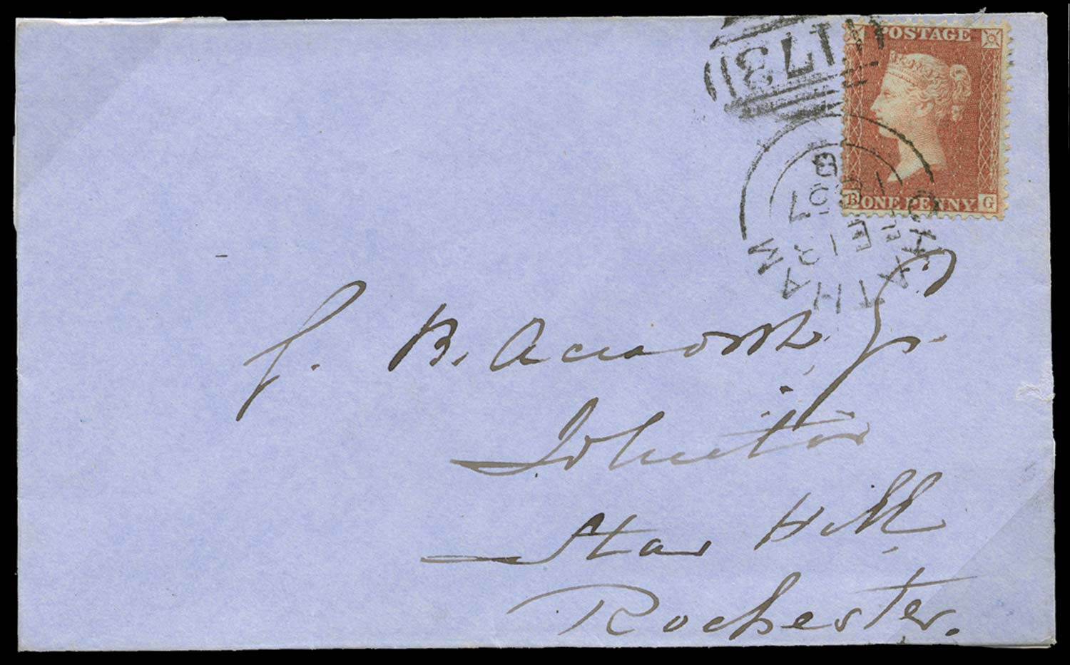 GB 1855  SG29 Pl.40 Cover
