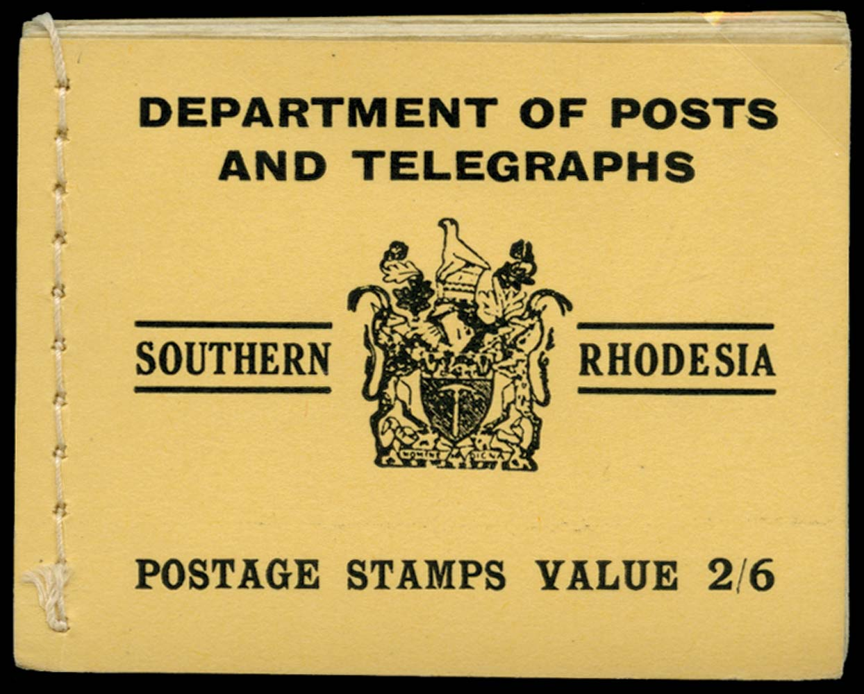 SOUTHERN RHODESIA 1938  SGSB4b Booklet