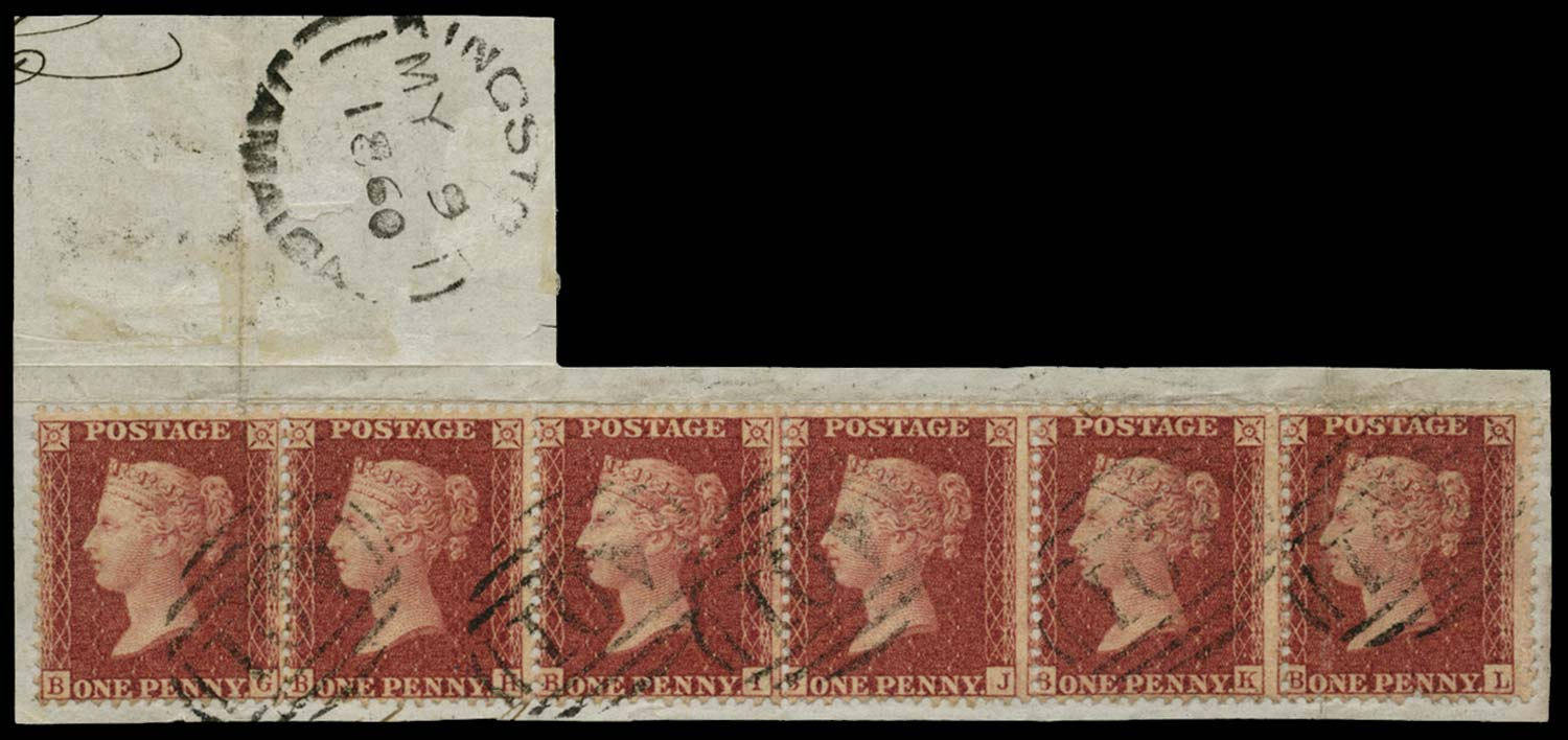 JAMAICA 1860  SGZ2 Cancel