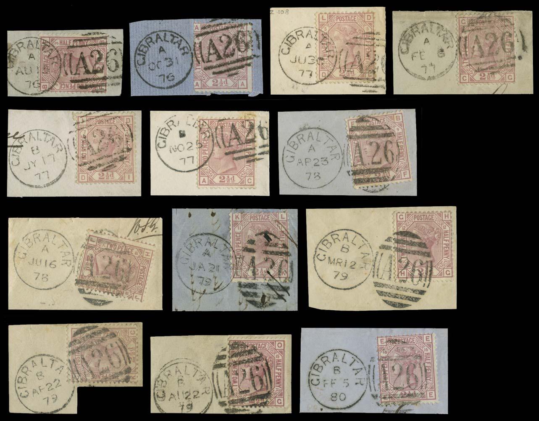 GIBRALTAR 1876  SGZ26 Cancel