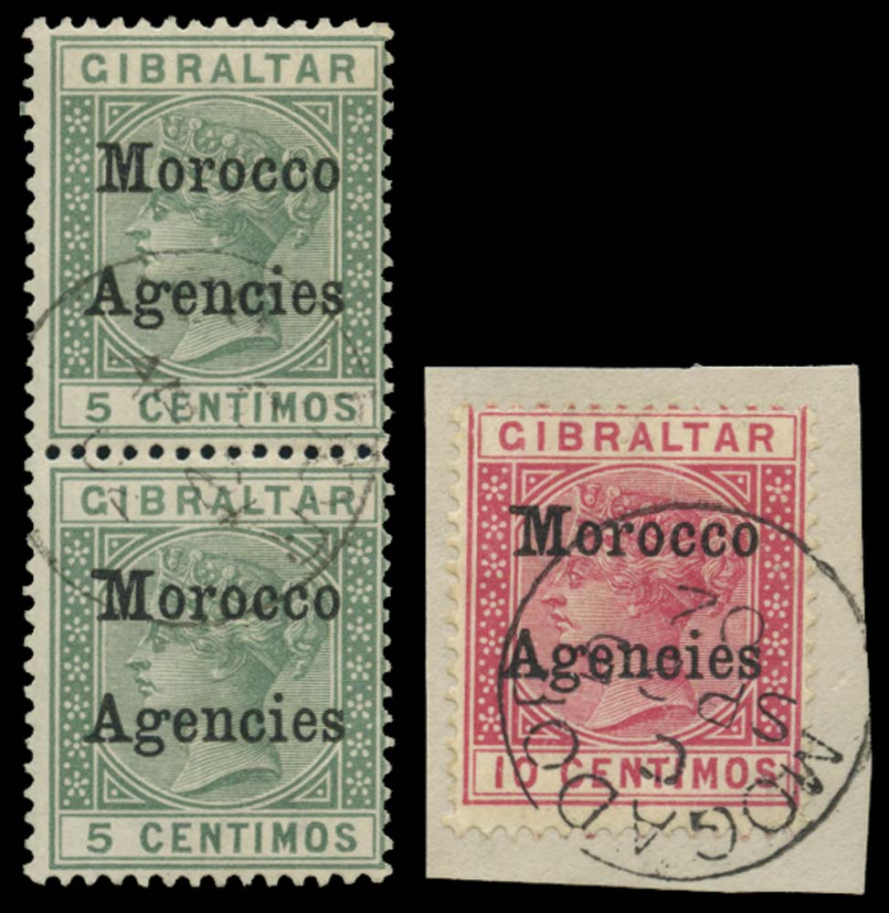 MOROCCO AGENCIES 1899  SG9/b, 10b Used