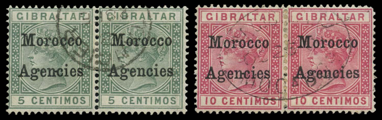 MOROCCO AGENCIES 1899  SG9/c, 10/c Used