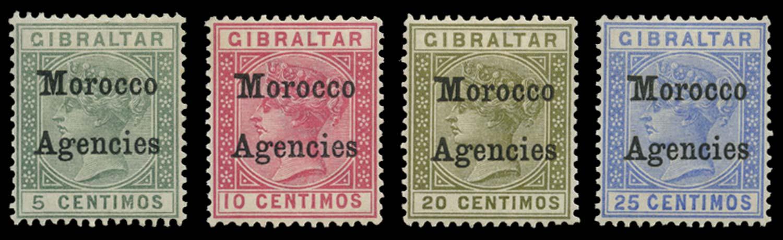 MOROCCO AGENCIES 1899  SG9b/10b Mint