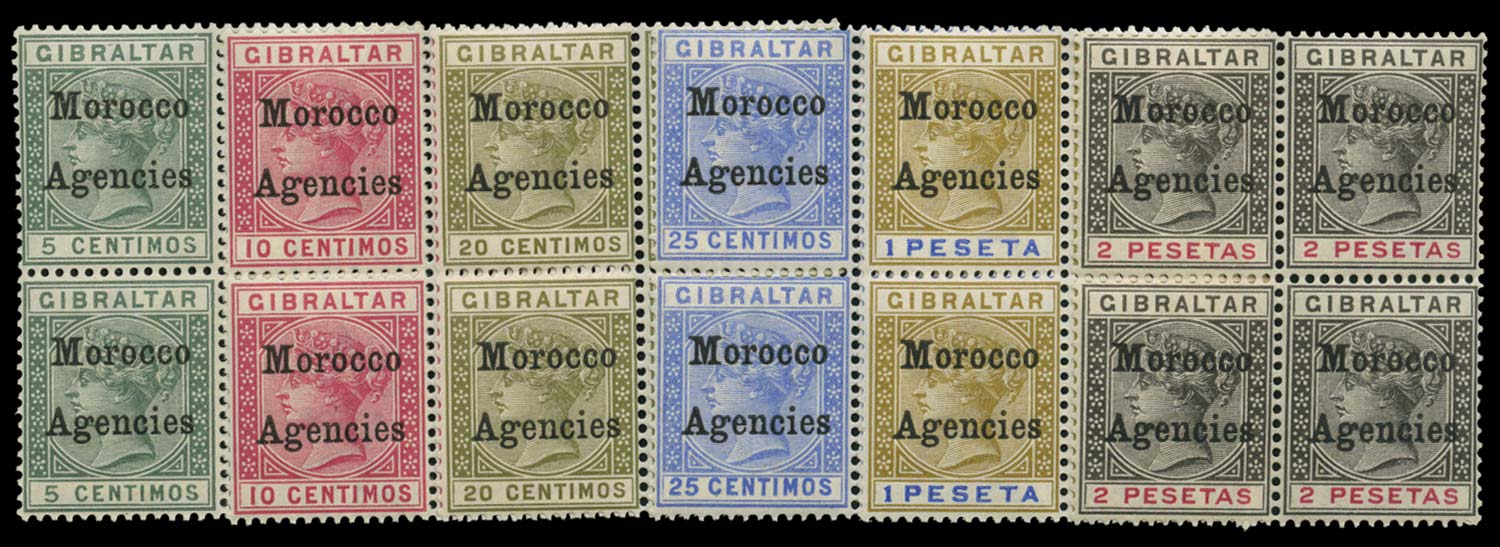MOROCCO AGENCIES 1899  SG9/12, 15/16 Mint