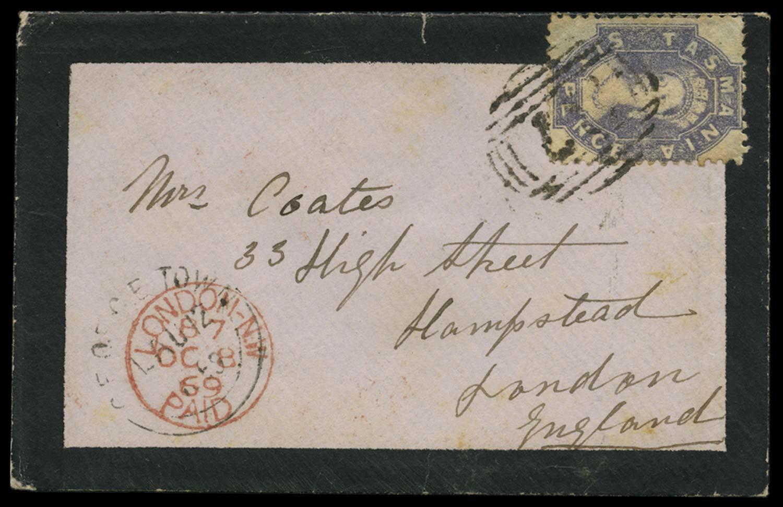 TASMANIA 1869  SG75 Cover
