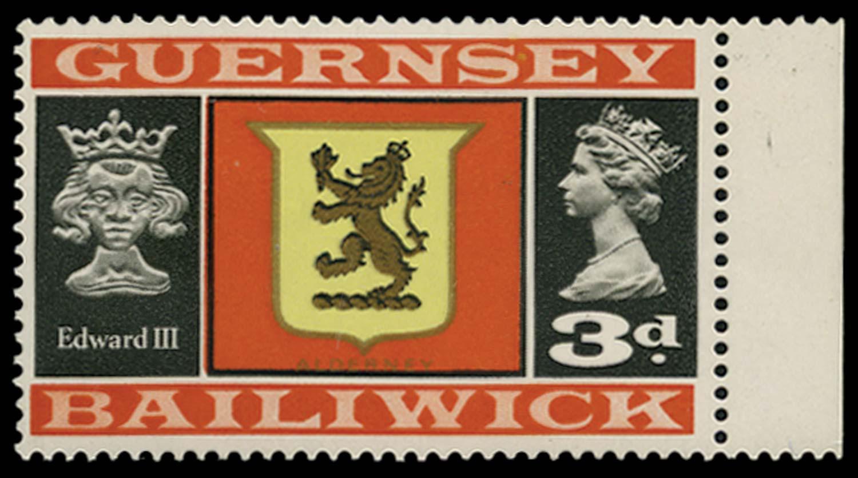 GB 1969  SG17ai Mint Error of watermark