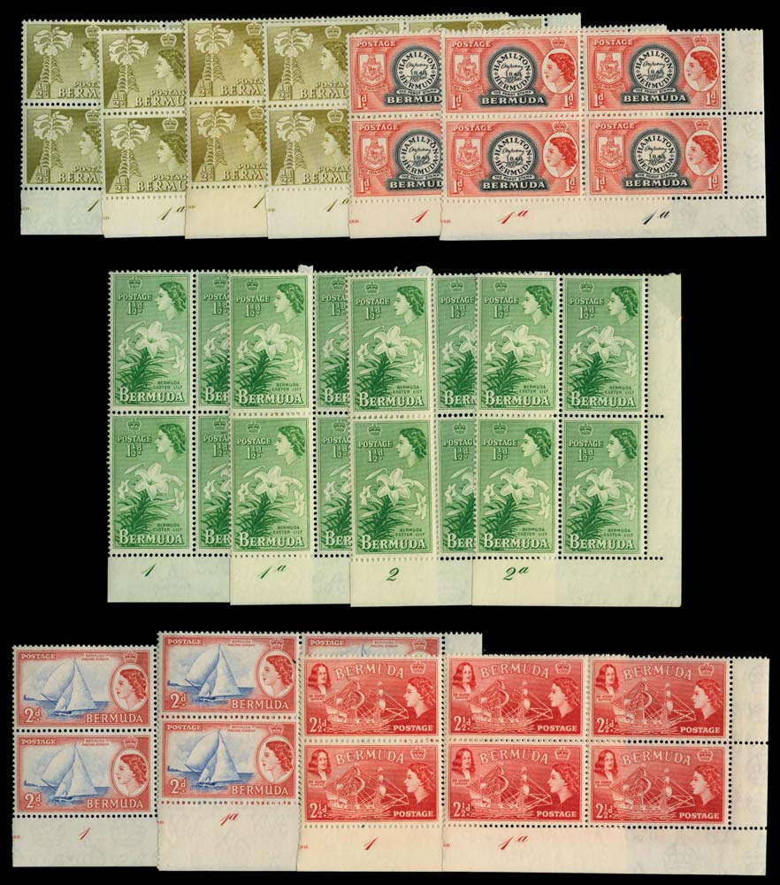 BERMUDA 1953-62  SG135/50 Mint