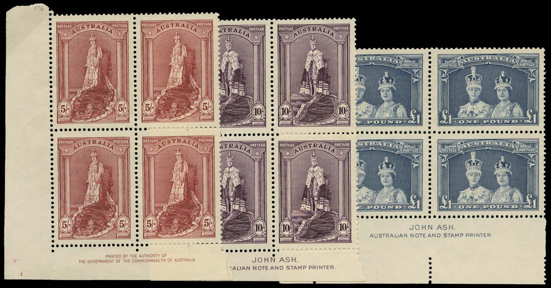 AUSTRALIA 1937-49  SG176/8 Mint